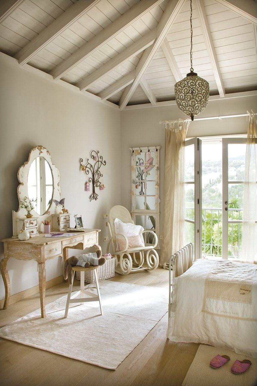 Una coqueta habitacin en tonos pastel
