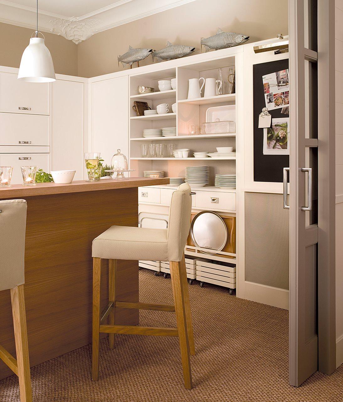 Cmo aprovechar el espacio en cocinas pequeas