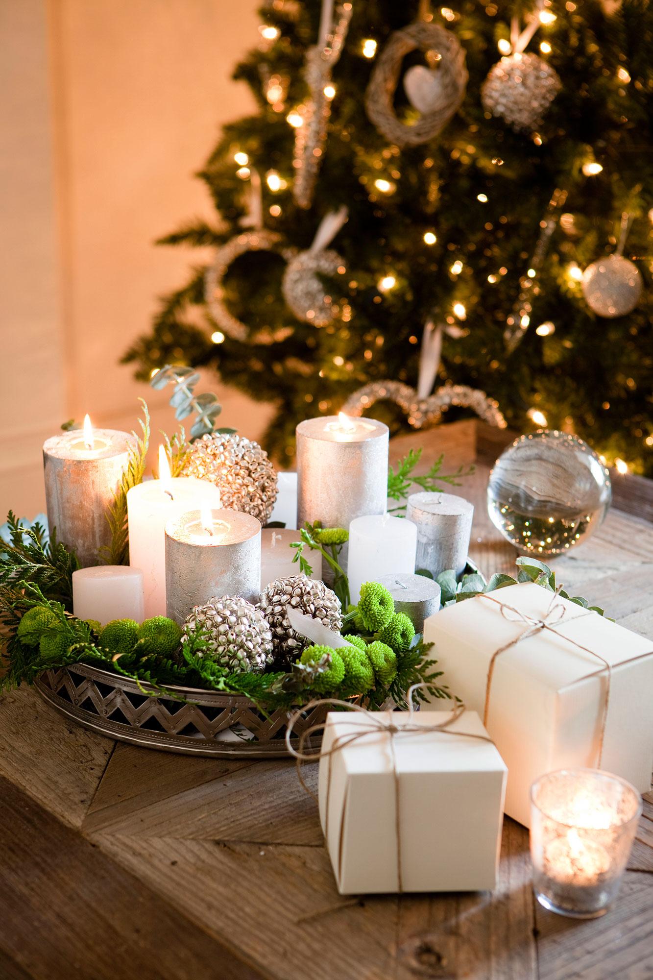 Detalles e ideas en plata para decorar tu casa esta Navidad