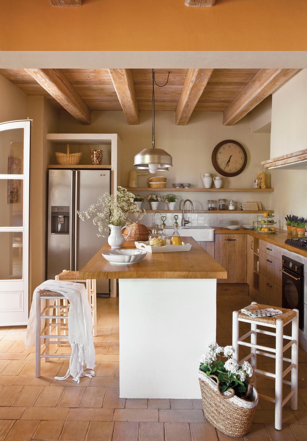 20 cocinas rsticas bonitas con muebles vintage y mucho encanto