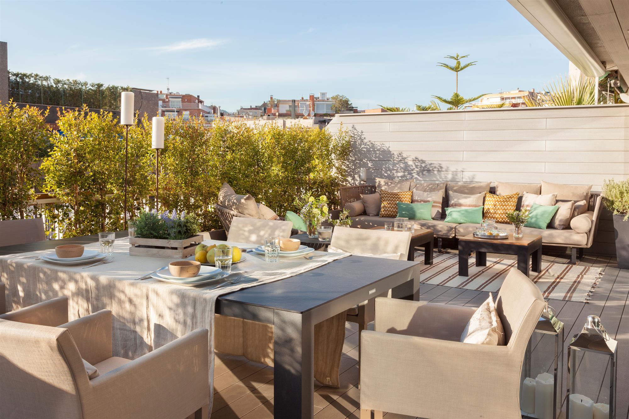 Decorar la terraza segn su talla cmo aprovechar el espacio