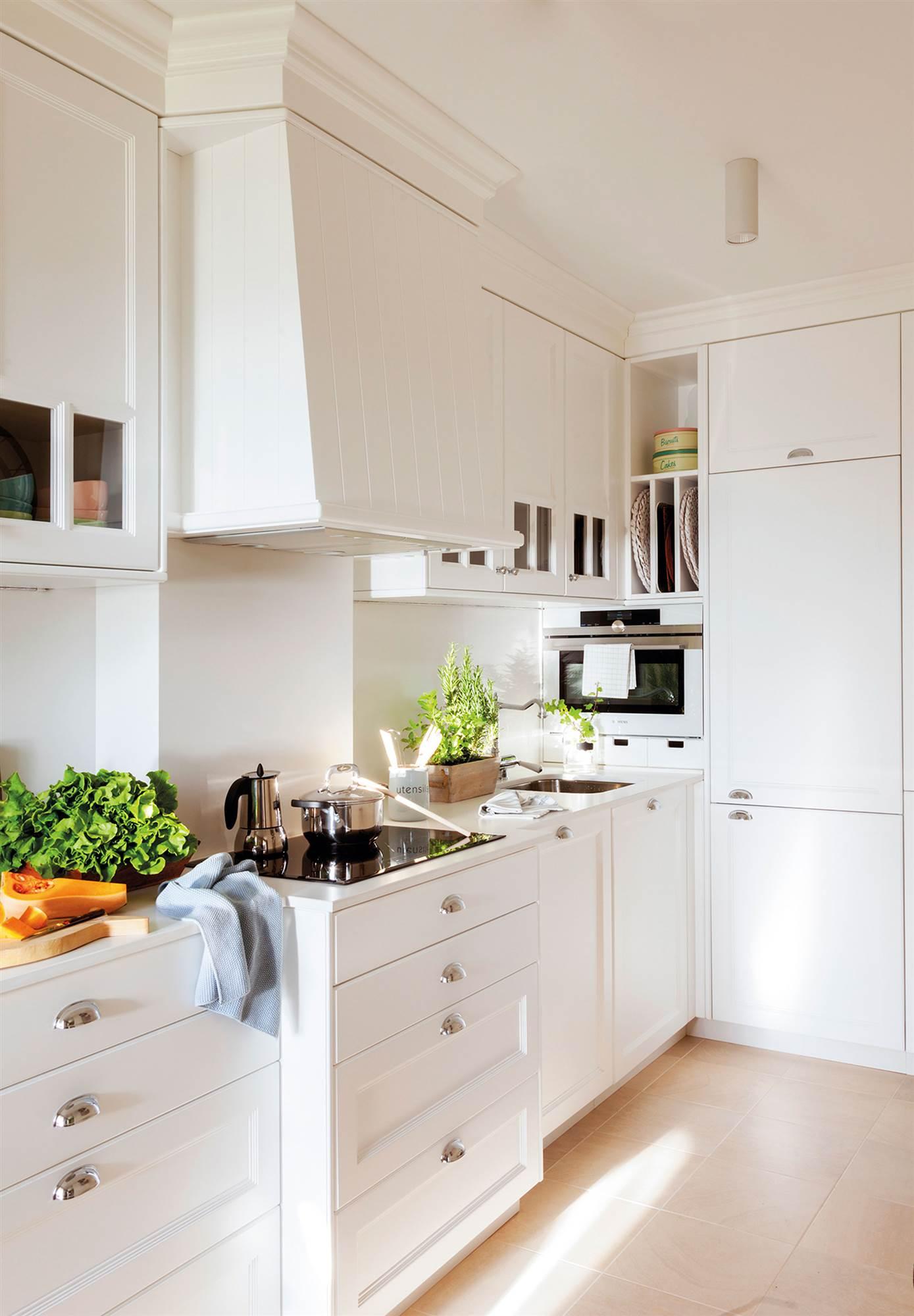 15 fotos de cocinas pequeas bien aprovechadas