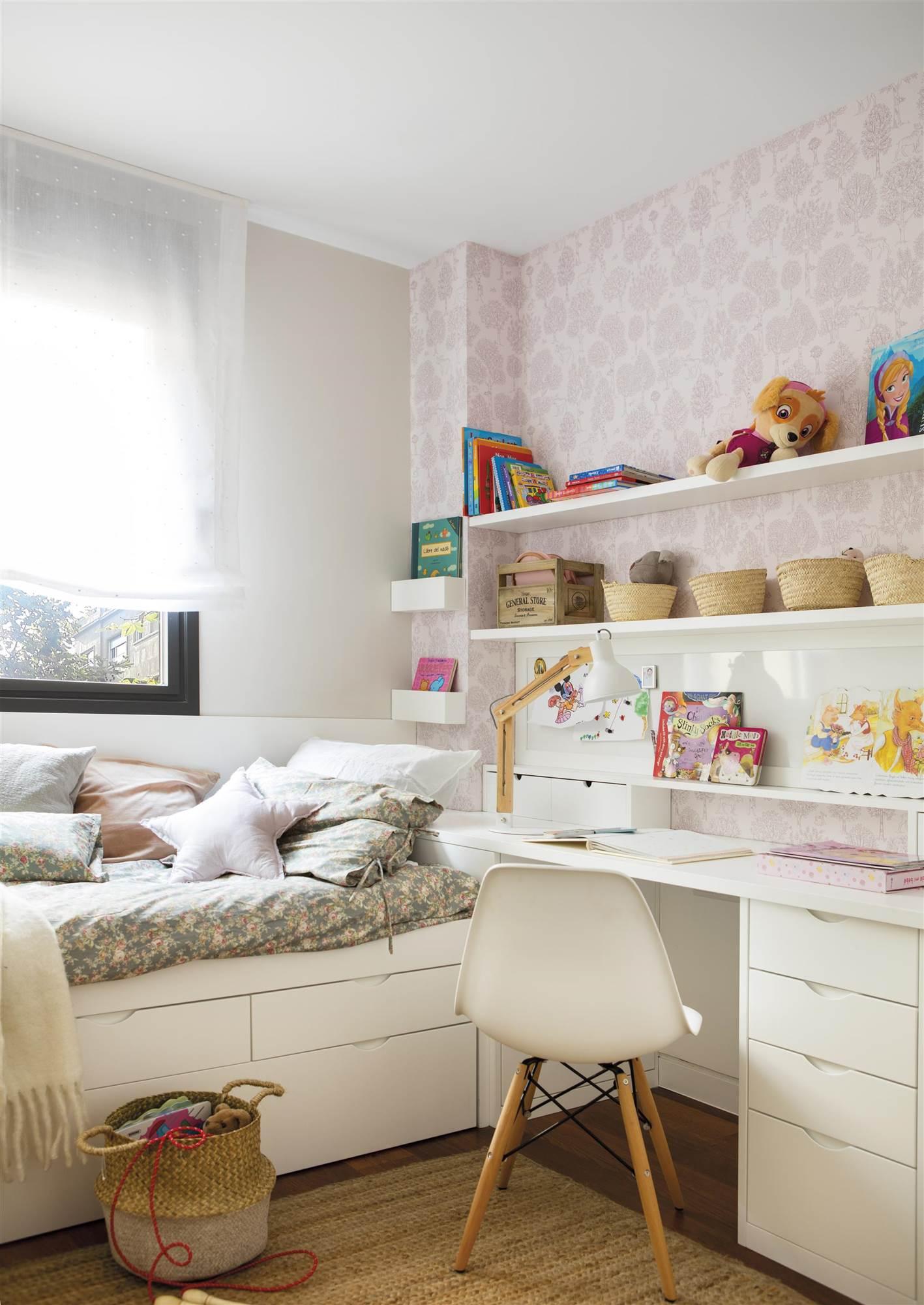 Habitaciones infantiles pequeas en las que cabe todo