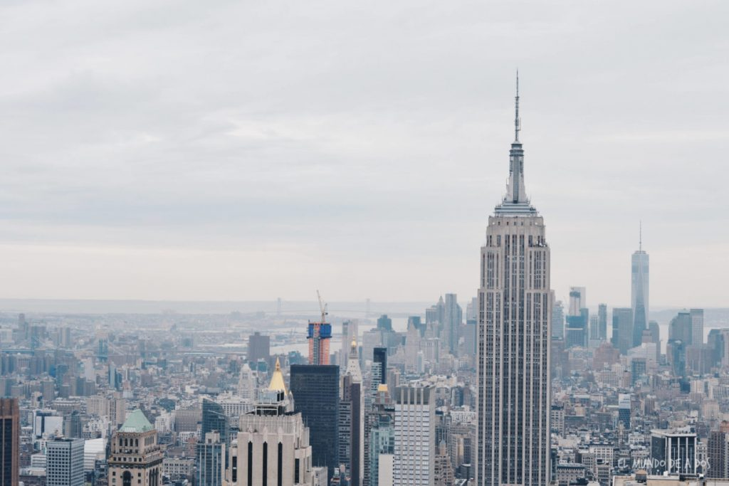Rascacielos. Escala en Nueva York