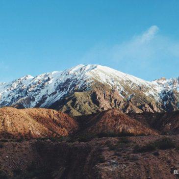 De norte a sur, la Cordillera de los Andes Argentina