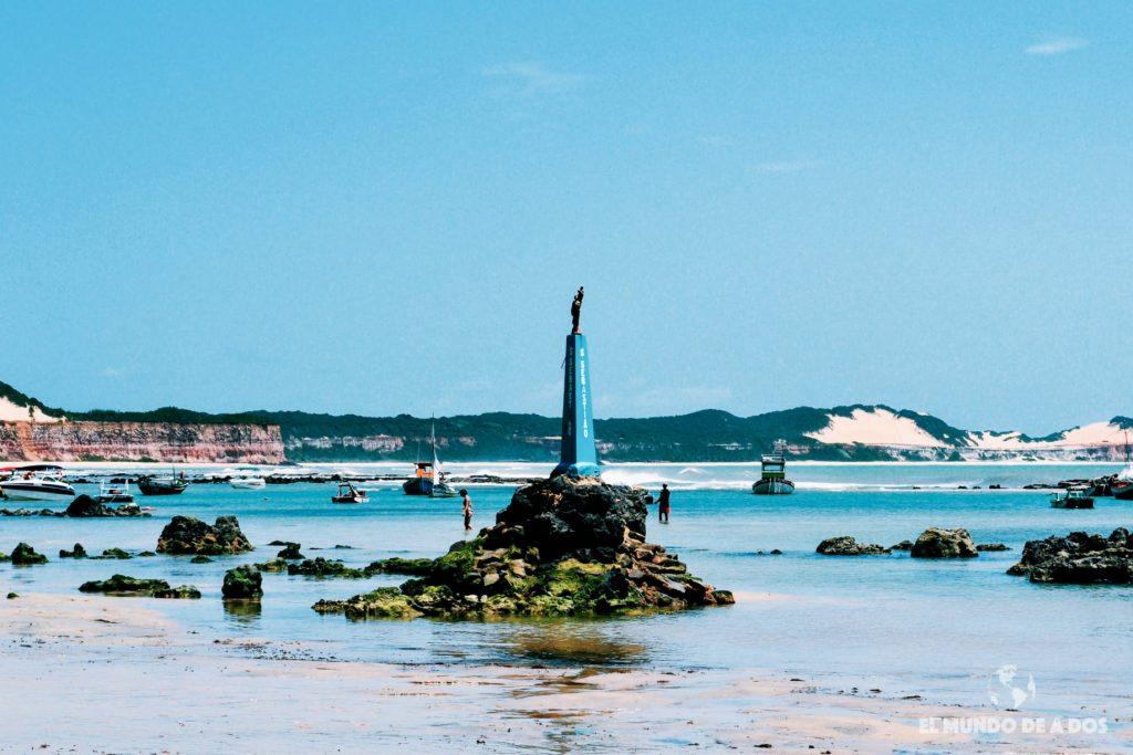 Marea baja en Playa del Centro. Playas de Pipa