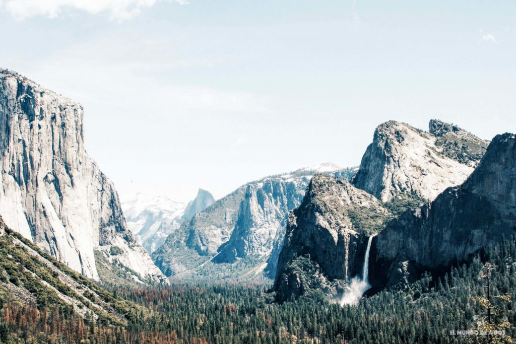 Yosemite Valley. costa oeste de estados unidos