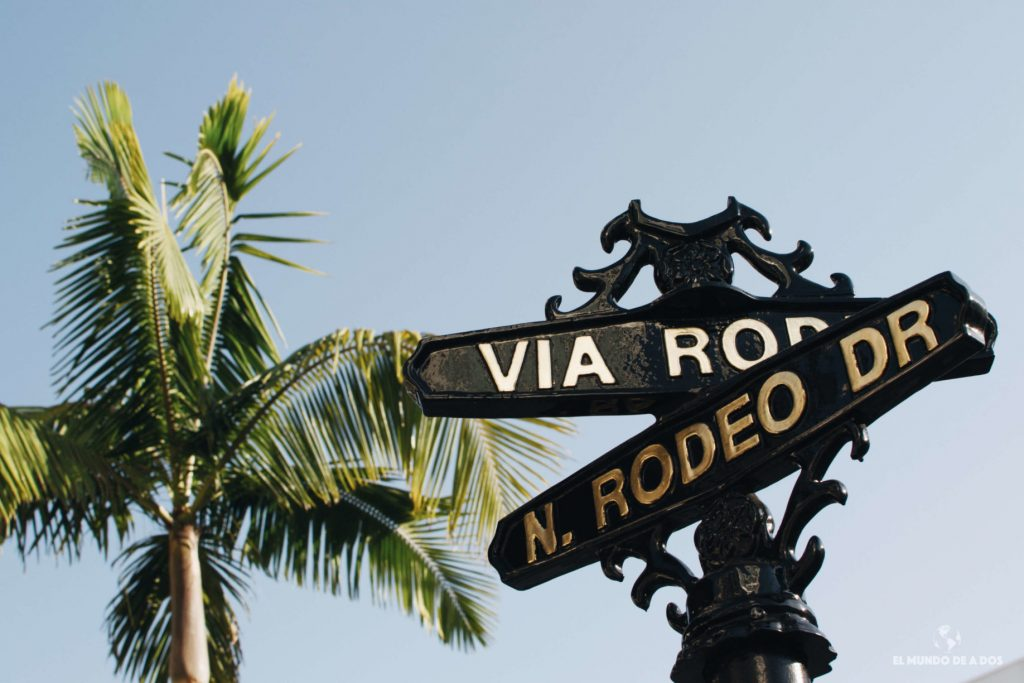 Via Rodeo. Lugares para visitar en Los Ángeles California
