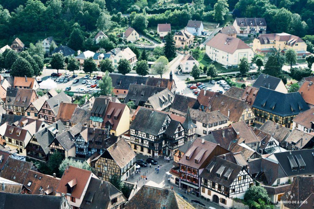 La ciudad desde arriba. Kaysersberg Francia