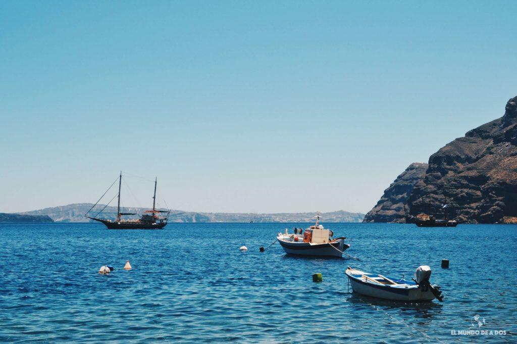 Playa Thirasia. Que ver en Santorini en 3 días
