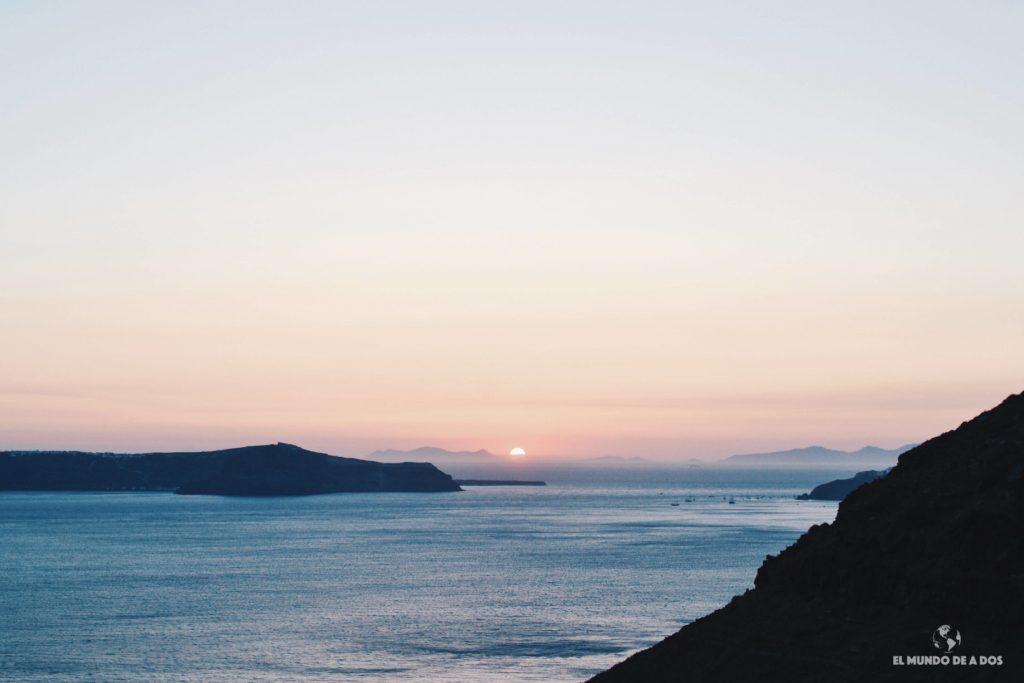 Atardecer en Santorini. Que ver en Santorini en 3 días