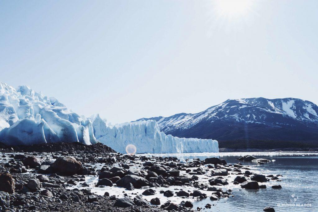 El glaciar desde la costa del lago. Minitrekking Perito Moreno