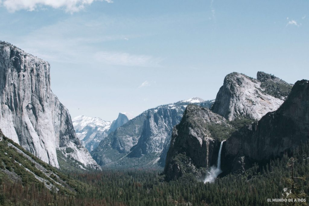 Vista de Tunnel View. Que ver en Yosemite
