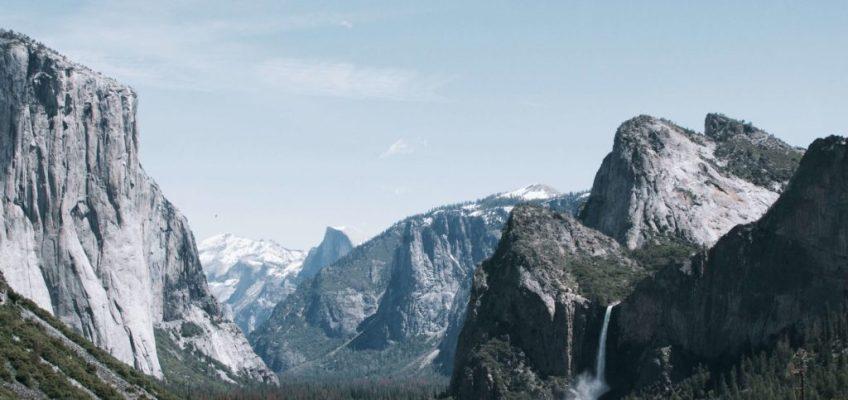 Vista de Tunnel View. Que ver en Yosemite