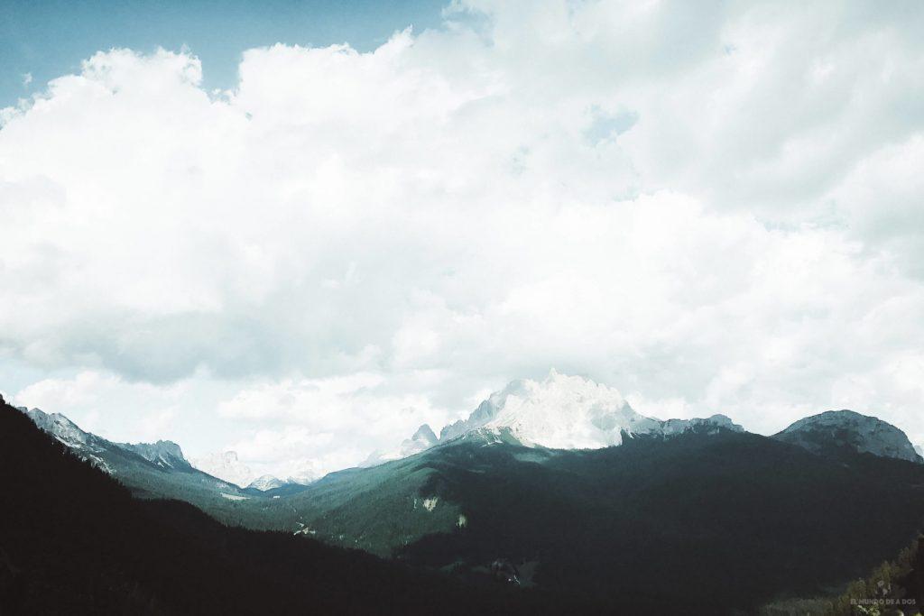 Vista en el camino hasta el Lago Sorapis