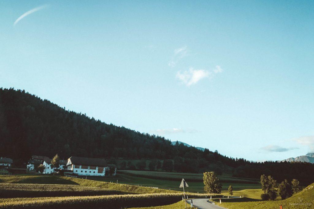 La granja donde nos alojamos. Viaje a los Dolomitas en verano.
