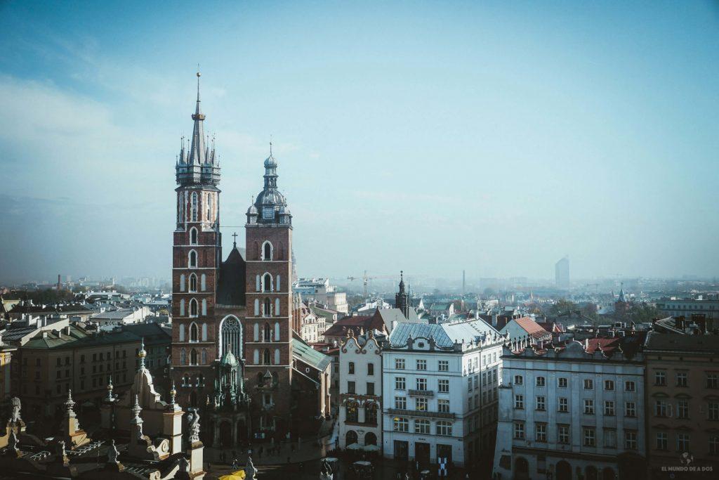 Vista de Cracovia desde la Torre del Ayuntamiento. Que ver en Cracovia