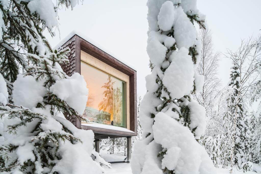 Arctic Tree House Rovaniemi. Lugares curiosos para dormir en Laponia.