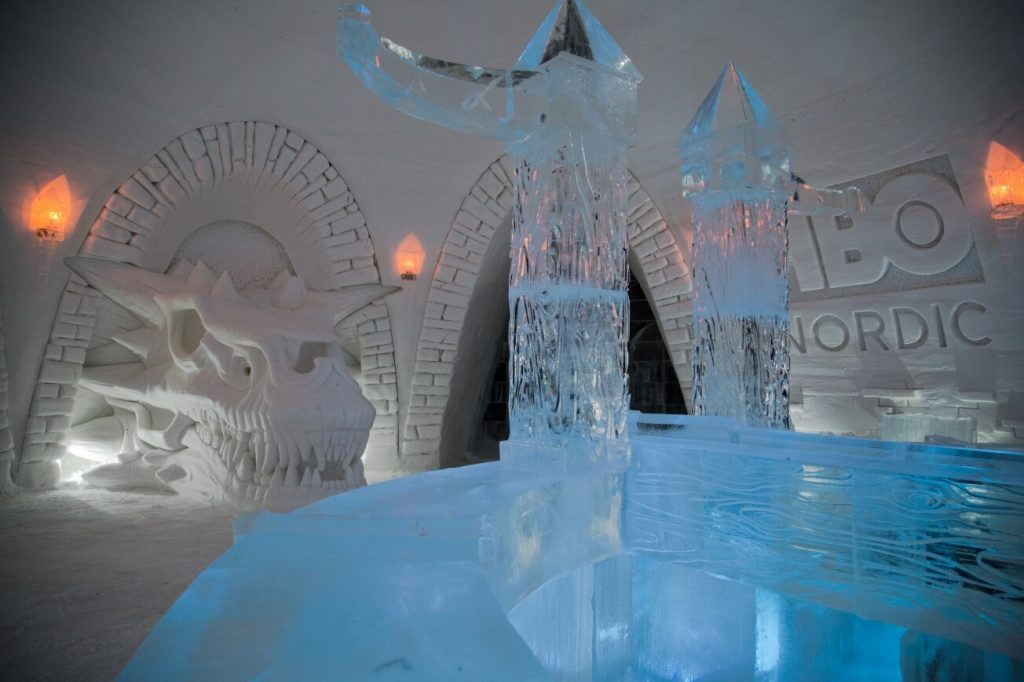 Game of Thrones Snow Village. Lugares curiosos para dormir en Laponia.