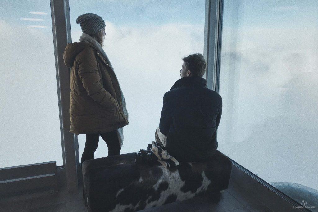 Desde las nubes en Suiza (cima de Schilthorn)