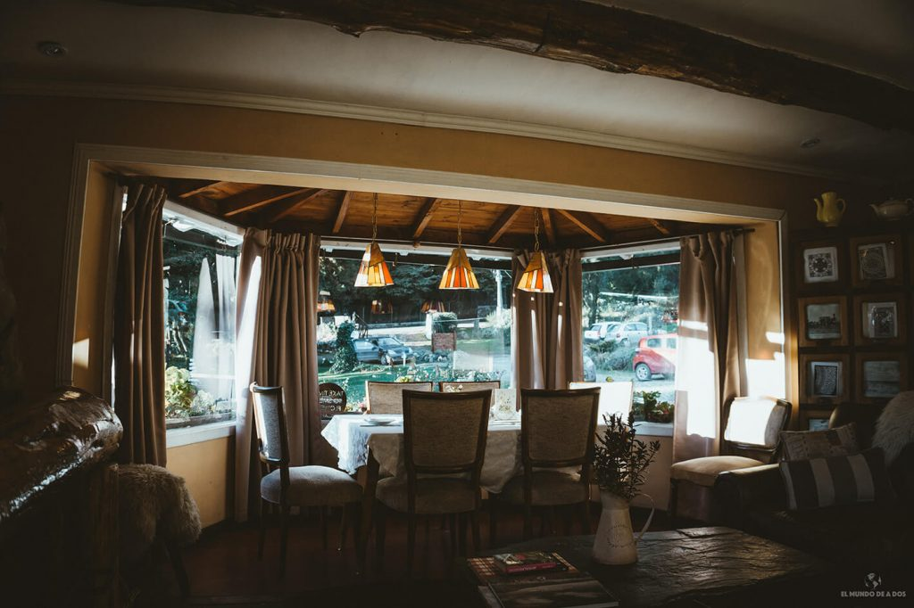 Casa de té galés en Bariloche. Circuito Chico Bariloche