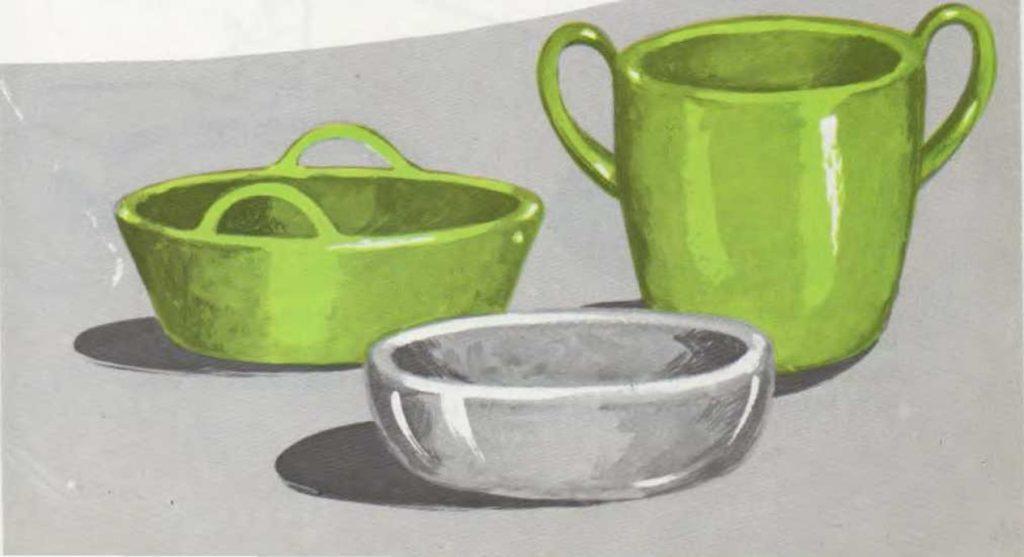 Una vasija de barro hecha con una bola