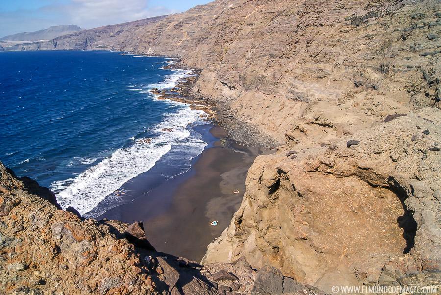 Piscinas naturales del norte de Gran Canaria - Playa de Faneroque