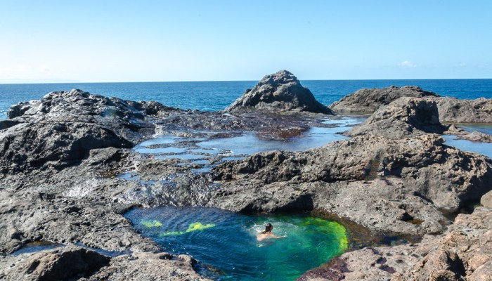 Piscinas naturales del norte de Gran Canaria - Charcos superiores