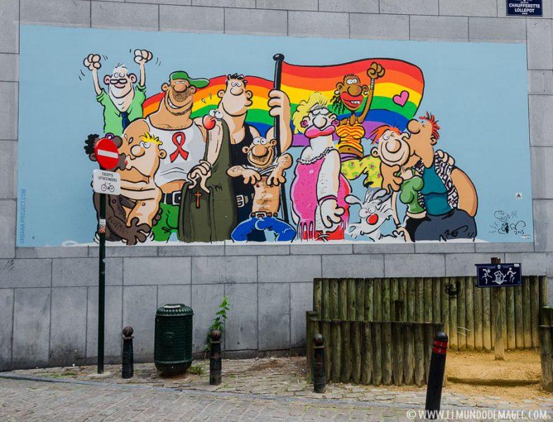 Que ver en Bruselas en dos días - Ruta de street art, movimiento LGTB