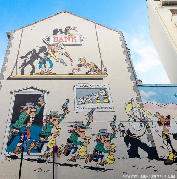 Que ver en Bruselas en dos días - Ruta de street art, Lucky Luke