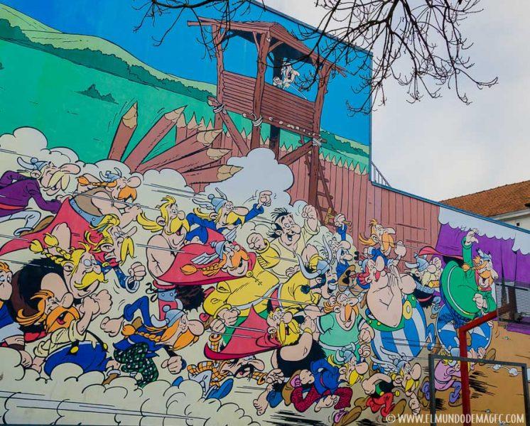 Que ver en Bruselas en dos días - Ruta de street art, Asterix y Obélix