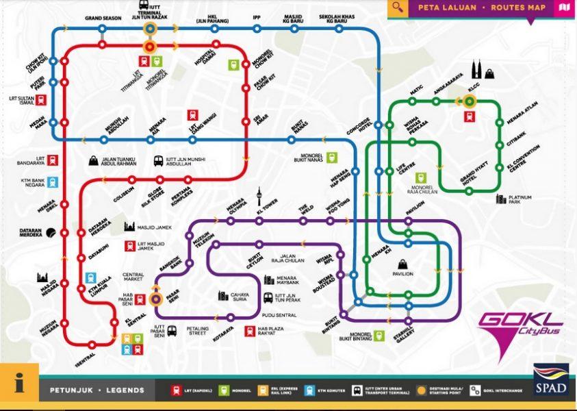 Que ver en Kuala Lumpur - KL Go, buses gratuitos
