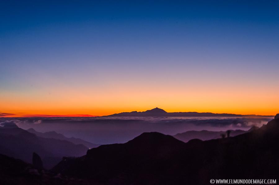 Senderismo en Gran Canaria - Puesta de sol