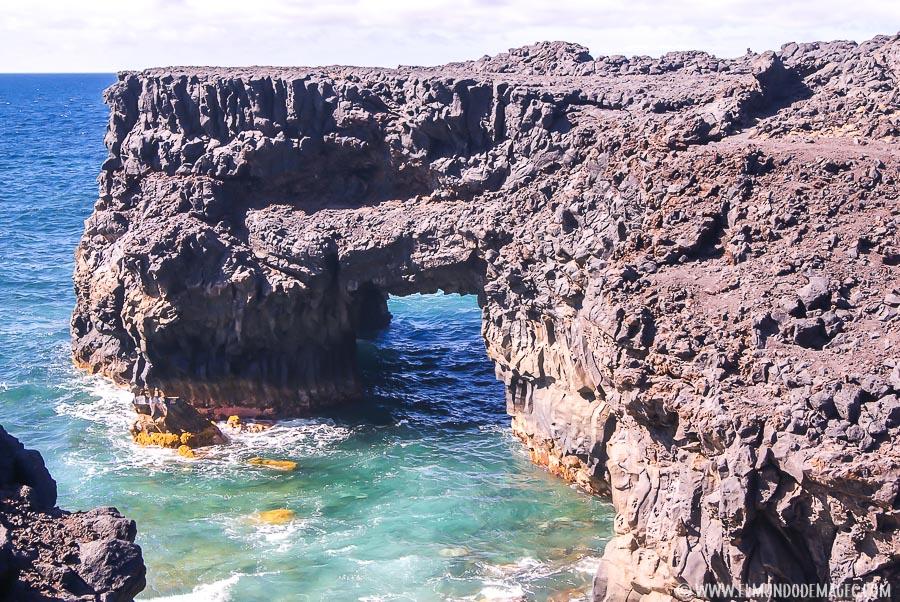 piscinas naturales de El Hierro - Arco volcánico en Arenas Blancas