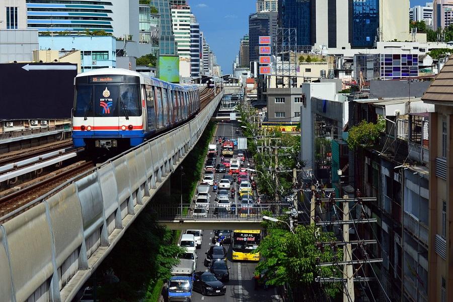 razones para viajar a tailandia - skytrain