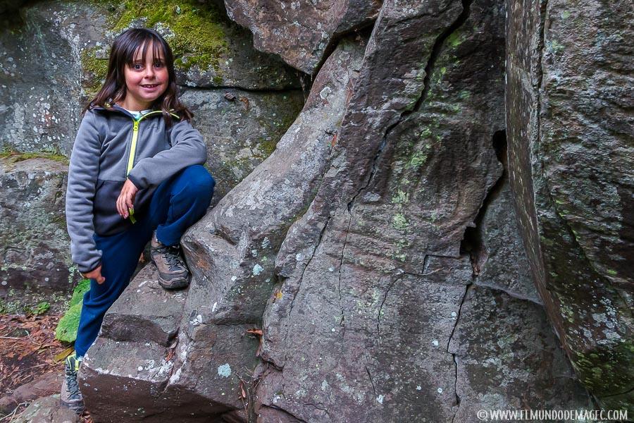 Senderismo con niños en La Palma - Petroglifos-2