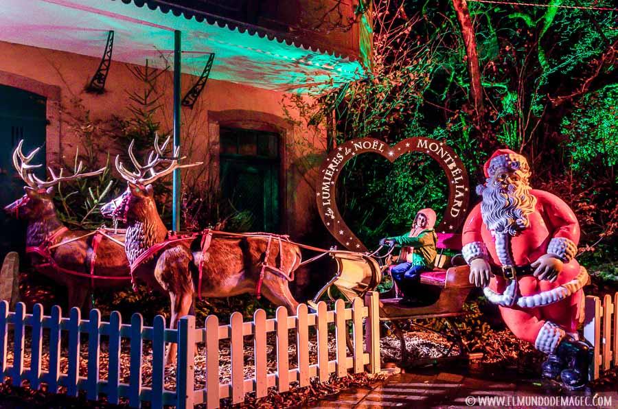 Decoración navideña de Montebeliard