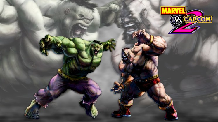 Marvel vs Capcom 2: Hulk vs Zangief (click for full-size pic)