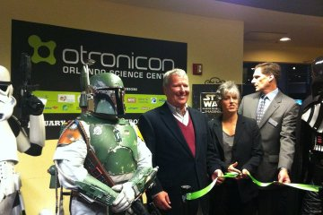 Orlando Mayor Buddy Dyer at OTRONICON Opening Ceremony