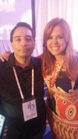 With María Celeste Arrarás