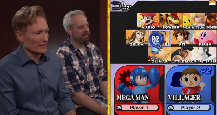 Conan plays Super Smash Bros. for Wii U