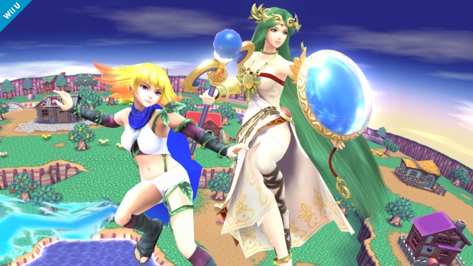 Mii Fighter & Lady Palutena in Super Smash Bros. for