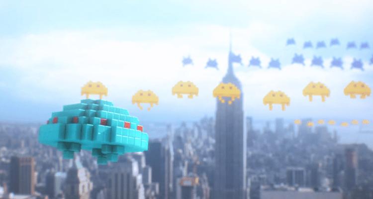 "Space Invaders in ""Pixels"""