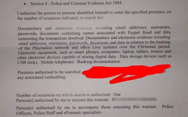 Search warrant for Vinnie Omari