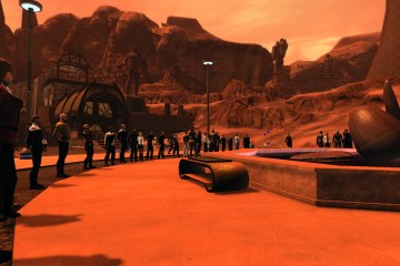 Star Trek Online players paying their respects to Leonard Nimoy, aka Spock