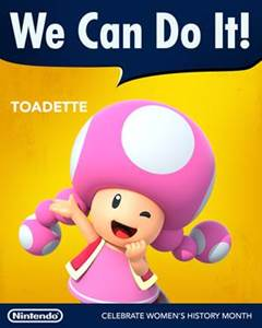 Nintendo / Toadette / Women's History Month