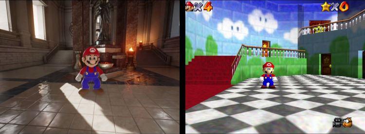 Cómo se le ve a Mario en un juego hecho con Unreal Engine 4