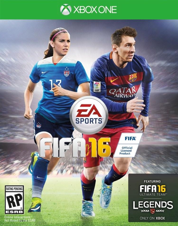 EA Sports FIFA 16: Alex Morgan & Lionel Messi - US Cover