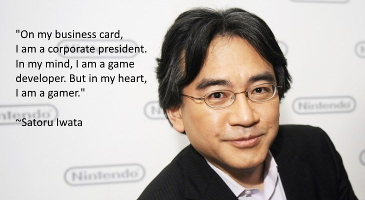 Statements from Miyamoto and others about the passing of Satoru Iwata