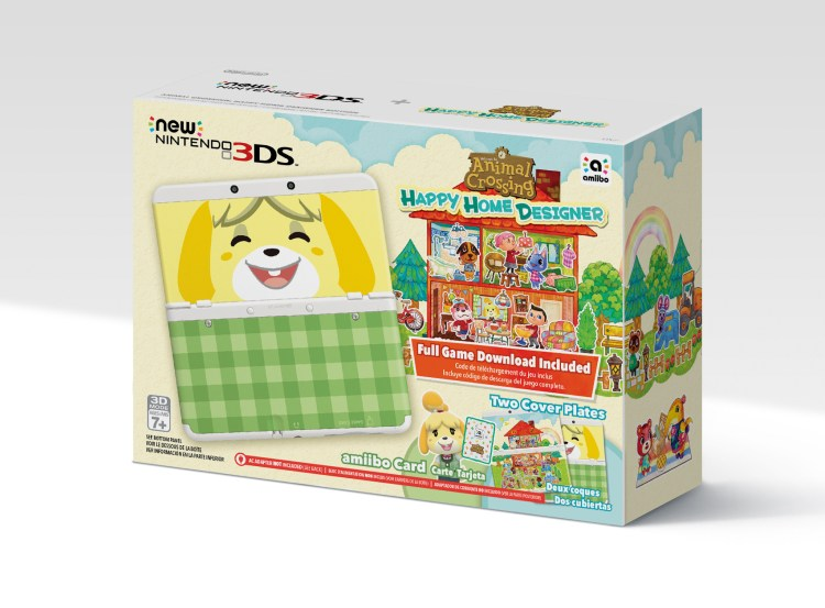 El New Nintendo 3DS incluido con Animal Crossing: Happy Home Designer